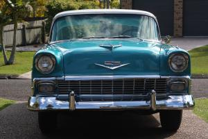1956 Cherolet Belair 2DR Pillarless Coupe 2 Tone Ivory White Over Turquoise in QLD