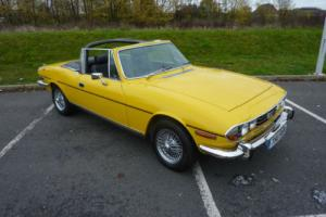 TRIUMPH STAG 3.0 4 SPEED MANUAL WITH OVERDRIVE 4 YEAR RESTORATION COMPLETED 2015