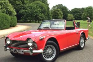 1965 Triumph TR4a IRS Surrey Top Roadster - Original UK Car
