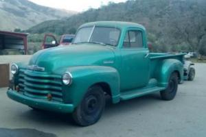 1951 Chevrolet Pickup truck 3100 California Truck Rust-Free