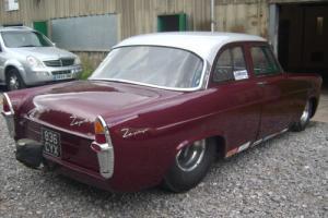 FORD ZEPHYR SUPER STREET/ GAS METHANOL BBC V8 DRAG CAR MAROON/SILVER