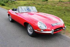 Jaguar E Type Roadster 1961 Chassis Number 62! Flat Floor Outside Bonnet Catch