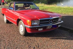 Mercedes-Benz 350SL Red Roadster1979