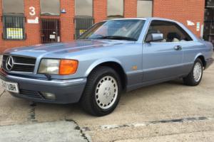 1991 MERCEDES 500 SEC AUTO BLUE