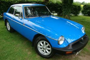 MG B GT 1.8 BLUE RUBBER BUMPER 1981