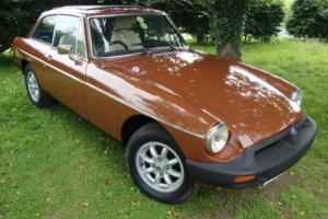 MG B GT 1.8 BROWN RUBBER BUMPER 1980