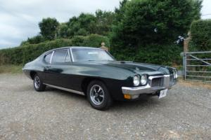 1970 PONTIAC Le MANS F/B COUPE AUTO V8.IN DARK RACING GREEN VERY RARE CAR.