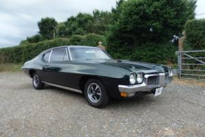 1970 PONTIAC Le MANS F/B COUPE AUTO V8.IN DARK RACING GREEN VERY RARE CAR.