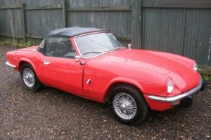 1971 'J' TRIUMPH SPITFIRE 1300 RED WITH LOW MILEAGE SINCE RESTORATION