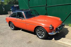 1975 MGB GT V8 Orange 3.5 Chrome Bumper Webasto Manual
