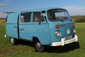 VOLKSWAGEN PANEL VAN BLUE TYPE 2 BAY WINDOW DOUBLE SLIDING DOOR NOT SPLITSCREEN