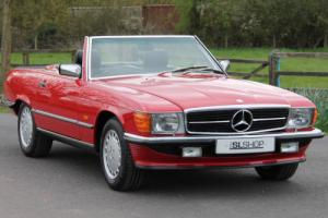 Classic Mercedes-Benz R107 500 SL (1989) Signal Red with Black Leather