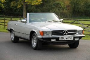 Classic Mercedes-Benz R107 350 SL (1977) Astral Silver with Blue MB Tex