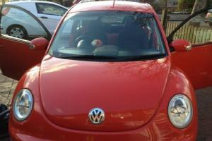 VW Beetle 2003 (53) with private plate, low 51,249 MOT June 17 **Sunset Orange**