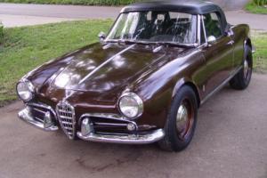 1962 Alfa Romeo Spider Giulietta Spider (10103 series)