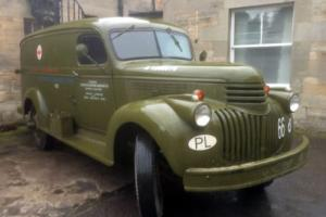 Chevrolet 1942 1 1/2 ton panel truck US / Polish army ambulance & commercial van