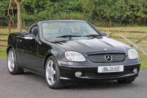 Mercedes-Benz SLK 320 (2002) Black w/ Black Leather, AMG Spec, Low Mileage, FSH