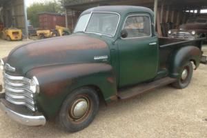 1949 Chevrolet 3100 halfton pickup Original unmolested barn find project Hotrod
