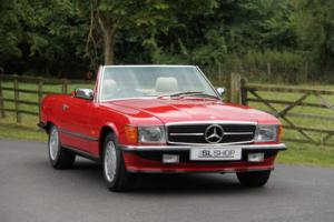 Classic Mercedes-Benz R107 300 SL (1988) Signal Red with Cream Leather