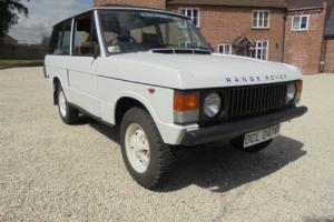 1976 Range Rover 2 Door , Suffix D driving car with MOT