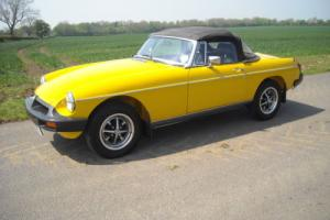 mgb roadster 1978 inca yellow only 39,000 miles from new superb original example