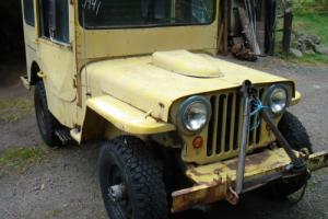 willys jeep WW2 1943 Willys MB military vehicle classic car barn find Photo
