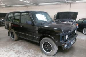 CLASSIC RANGE ROVER 1993 L HARD DASH, BELUGA BLACK, GREY LEATHER