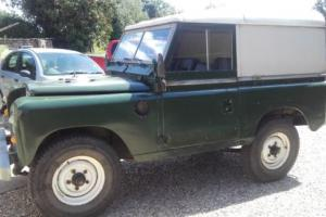 """LAND ROVER 88"""" DIESEL SERIES - 4 CYL GREEN SWB LANDROVER"""