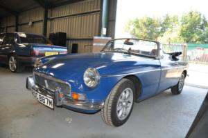 MG B ROADSTER 1974, TAX EXEMPT, TEAL BLUE, CHROME BUMPER, WITH MOT