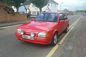 Ford escort xr3i red. 1986 mk4. 47535 miles.