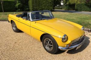 MGB Roadster 1980 with Chrome Bumper Convertion
