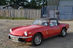 TRIUMPH SPITFIRE 1979 Mk 4 RED WITH BLACK INTERIOR DRIVES WELL