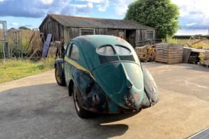 '52 Split window VW beetle. Crotch cooler model. Recent barn find. Rare vehicle.