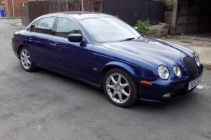Jaguar S type, 3 litre sport, 5 speed manual, in pacific blue.