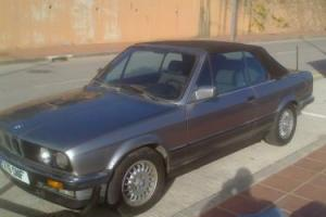 LHD 1986 BMW 325I CABRIOLET IN SPAIN.!!NEEDS WORK !!.MANAUL.125000MIS..2 OWNERS