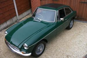 MGB GT, 1975, Wire Wheels, Chrome Bumpers, Tax Exempt, Webasto Sunroof, BRG Photo
