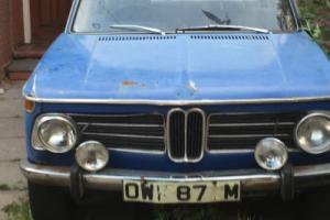 BMW 2002 BLUE 1973 Barn Find Restoration Project 63k NOT E9 CSL E24 No Reserve