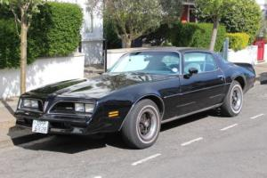 Pontiac Firebird 1977 muscle car black