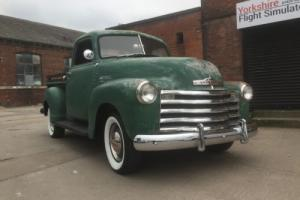 Chevy hot rod Pick up lhd 1950 292 all new chrome very nice truck
