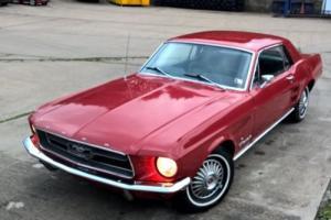 1967 FORD MUSTANG COUPE 289 V8 UK REGISTERED DRIVE AWAY ORIGINAL NO RESERVE SALE