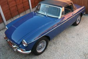 MGB Roadster, 1968, Wire Wheels, Chrome Bumpers, Overdrive, Tax Exempt, GHN3 Car
