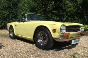 1969 TRIUMPH TR6 2.5 MANUAL RARE JASMINE YELLOW RHD NO RESERVE