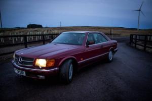 1989 MERCEDES 500 SEC AUTO RED
