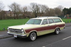1966 Ford Fairlane Squire Station Wagon Woody Unmolested Surf Wagon V8 Auto, PAS