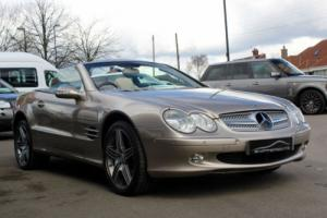 Rare SL500 Mercedes in Metallic Champagne & Beige leather/ folding hard top