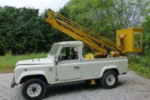 LAND ROVER DEFENDER 110 200 TDi FITTED MEWP SIMONS LF7 ELECTRIC PLATFORM 30 FT