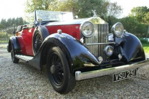 1933 ROLLS ROYCE 20/25 4/5 SEAT CONVERTIBLE COUPE STUNNING.