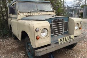 """*LAND ROVER 88"""" 4 CYL DIESEL SERIES 3 HARDTOP*1972 (L)*RESTORATION PROJECT*"""