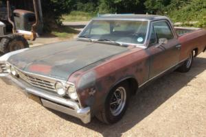1967 Chevrolet El Camino pickup 327 V8 auto runs drives well project Hotrod