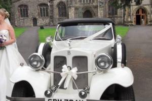 1981 BEAUFORD OPEN TOURER WHITE WEDDING CAR 2.0 LITER